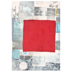 Large Robert Rauschenberg Mixed-Media Collage