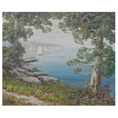 "Large Oil Painting ""Long Island Sound"""