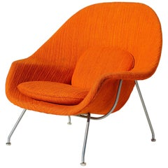 Eero Saarinen Womb Chair with Original Upholstery and Steel Frame