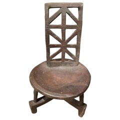 Ethiopian X Back Design Side Chair, Africa, 1950s