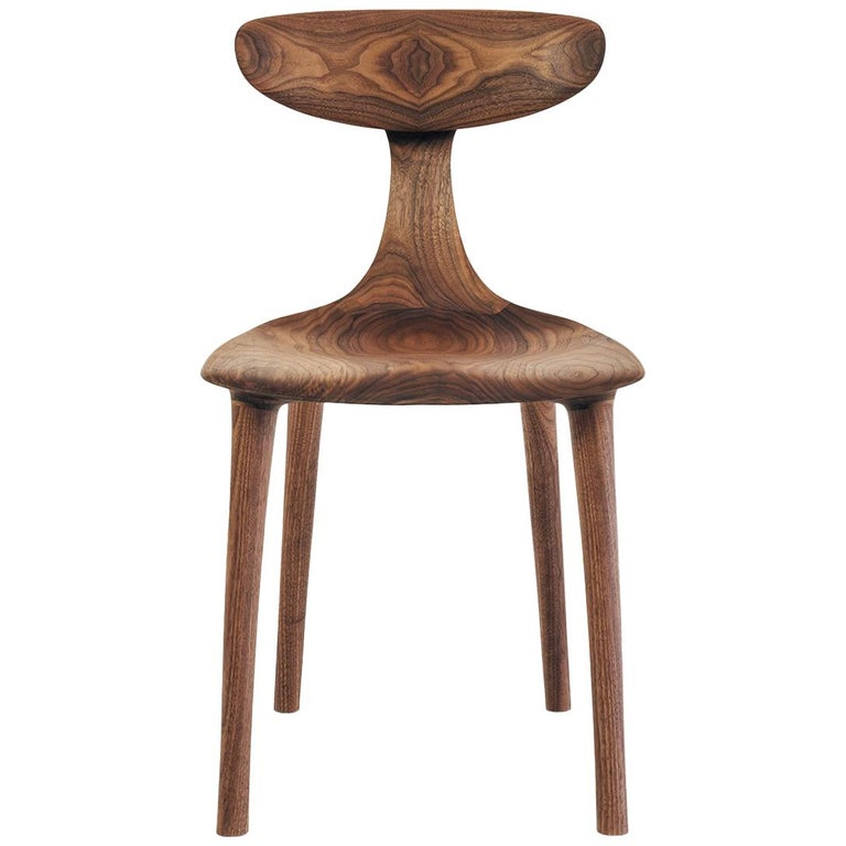 Sculptural Miranda Chair in Walnut by Matthew Sellens of SylvanRay For Sale