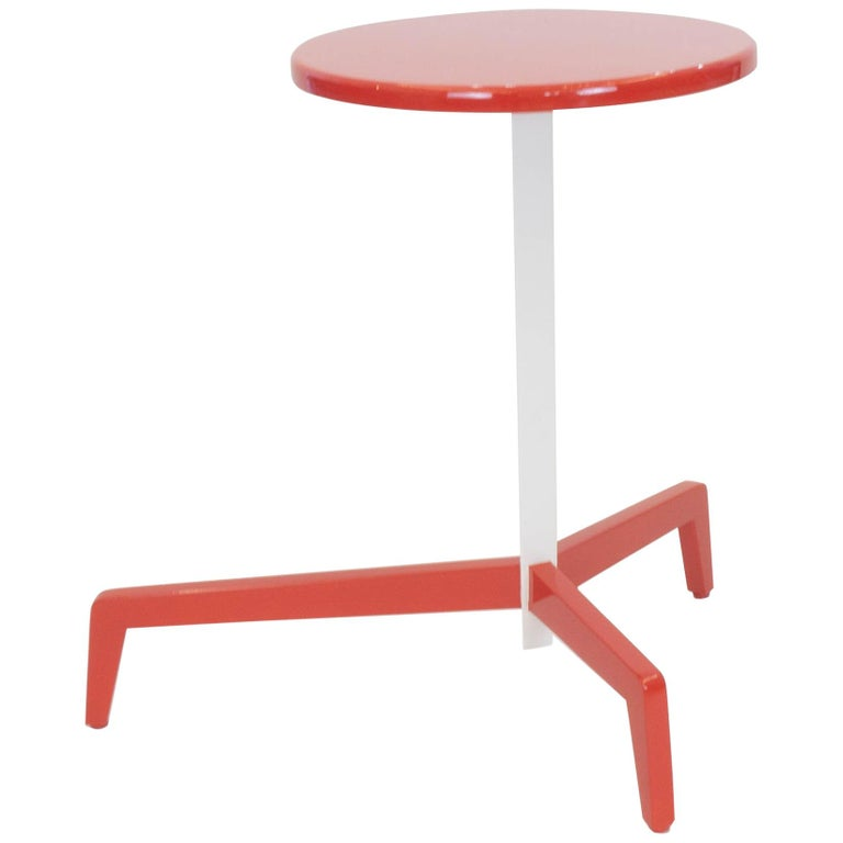 Space Saving Modern Side Table For Sale