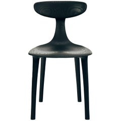 Sculptural Miranda Chair in Blackened Ash by Matthew Sellens of SylvanRay