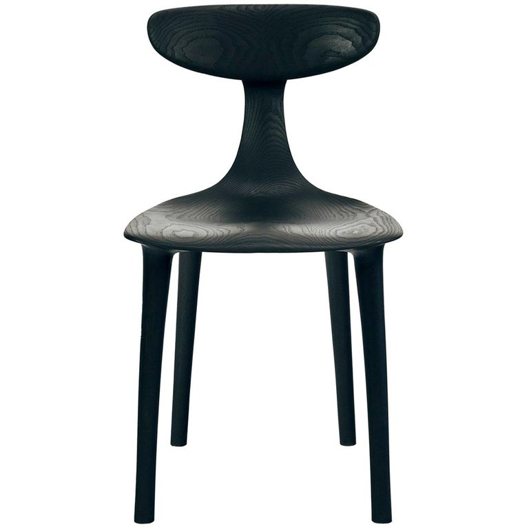 Sculptural Miranda Chair in Blackened Ash by Matthew Sellens of SylvanRay For Sale