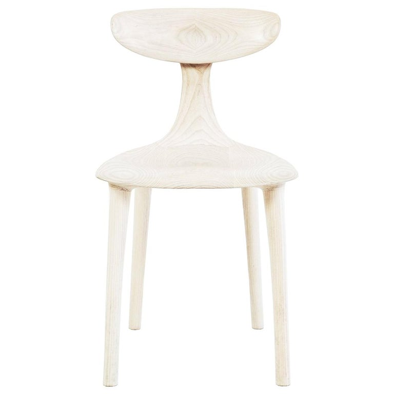 Sculptural Miranda Chair in Bleached Ash by Matthew Sellens of SylvanRay For Sale