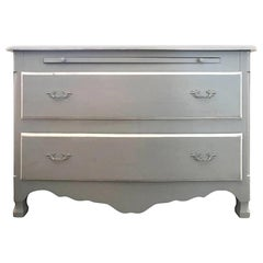 French Painted Chest of Drawers with Slide