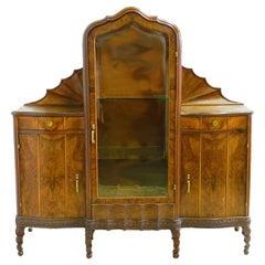 Vitrine Cabinet Art Nouveau Art Deco Sideboard Rare Find Hollywood Italian