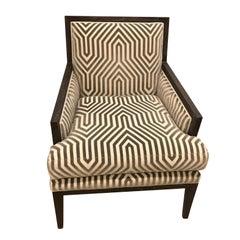 Schumacher Chanaux Armchair Upholstered in Vanderbilt Velvet Fabric