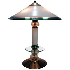 After Ettore Sottsass Italian Murano Glass Table Lamp, 1980s