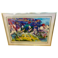 LeRoy Neiman Signed & Numbered Large Serigraph Limited Edition Gridiron Football