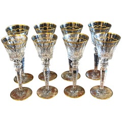 Vintage St. Louis Crystal Eight Mouth Blown and Hand Engraved / All Watermarked