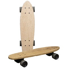 Cruiser Skateboard, Hand Carved Cherry and Walnut, Designed by Max Frommeld