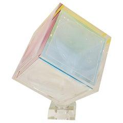 Polychromatic Cube Sculpture