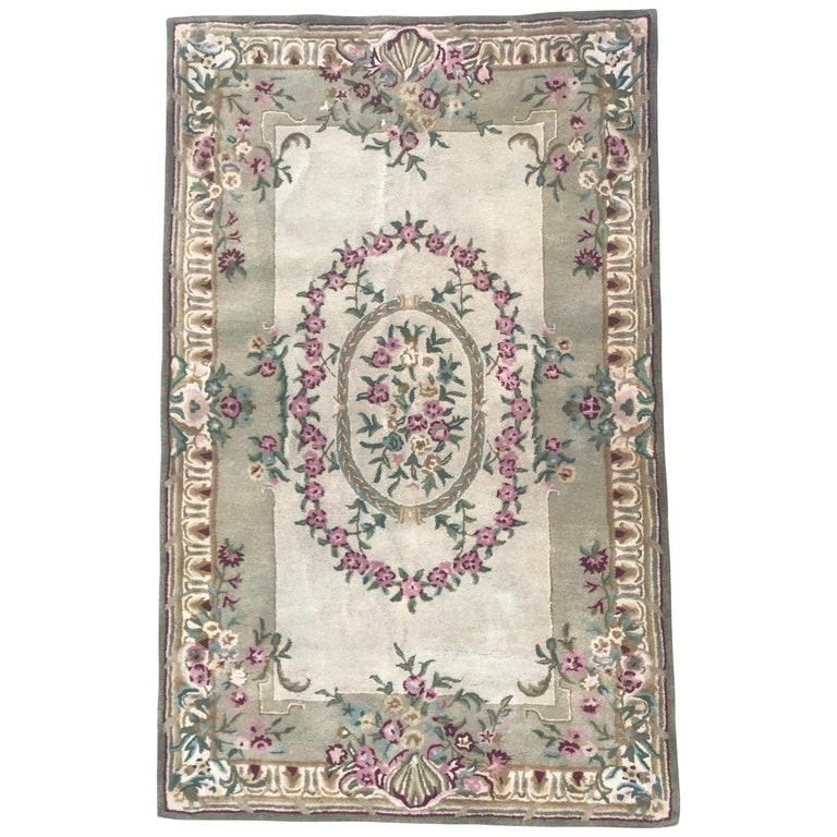 Style Savonnerie Hand Tufted Rug For Sale