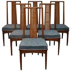 Midcentury John Stuart Cane Back Dining Chairs