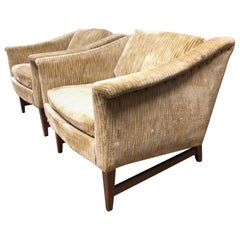 Pair Jens Risom Lounge Chairs