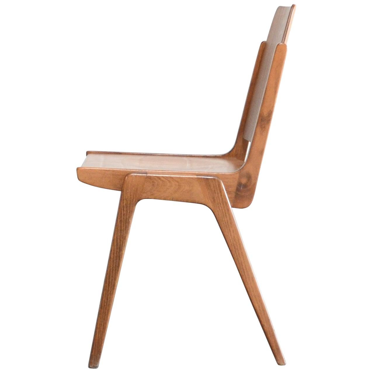 8 Set of Original Austro Chairs by Franz Schuster for Wiesner Hager Austria 1959