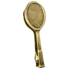 Brass Tennis Racket Door Knocker