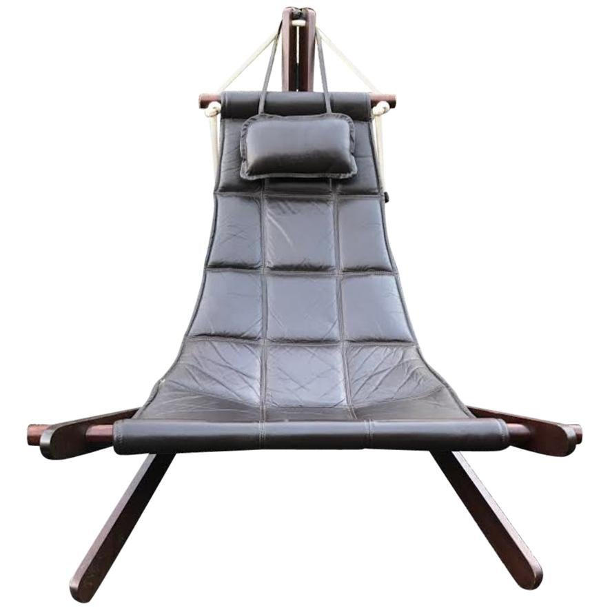 Dominic Michaelis Leather Sling Chair