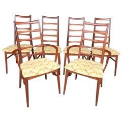 "Set of 6 Koefoeds Hornslet ""Lis"" Teak Dining Chairs"