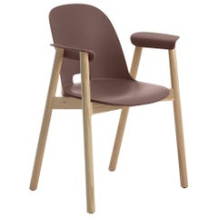 Emeco Alfi Armchair in Brown and Ash by Jasper Morrison