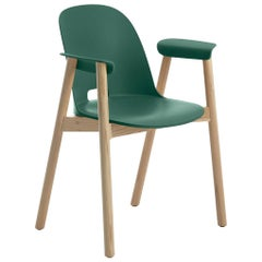 Emeco Alfi Armchair in Green & Ash by Jasper Morrison