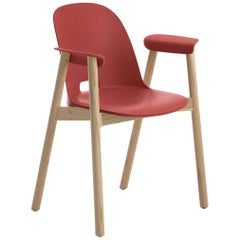 Emeco Alfi Armchair in Red and Ash by Jasper Morrison