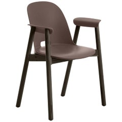 Emeco Alfi Armchair in Brown and Dark Ash by Jasper Morrison