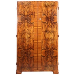 Art Deco Walnut Gentleman's Wardrobe