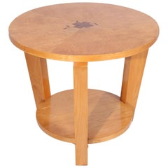 Karelian Birch Art Deco Occasional Table