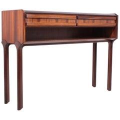 Italian Rosewood Console Table, circa 1960