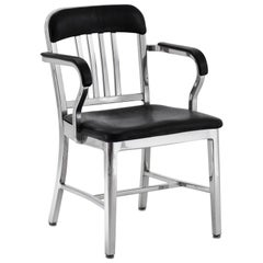 Emeco Navy® Armchair in Polished Aluminum W/ Bar Back by Us Navy