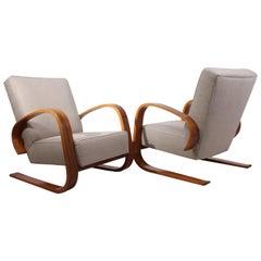 Pair of Walnut Armchairs by Alvar Aalto, circa 1950