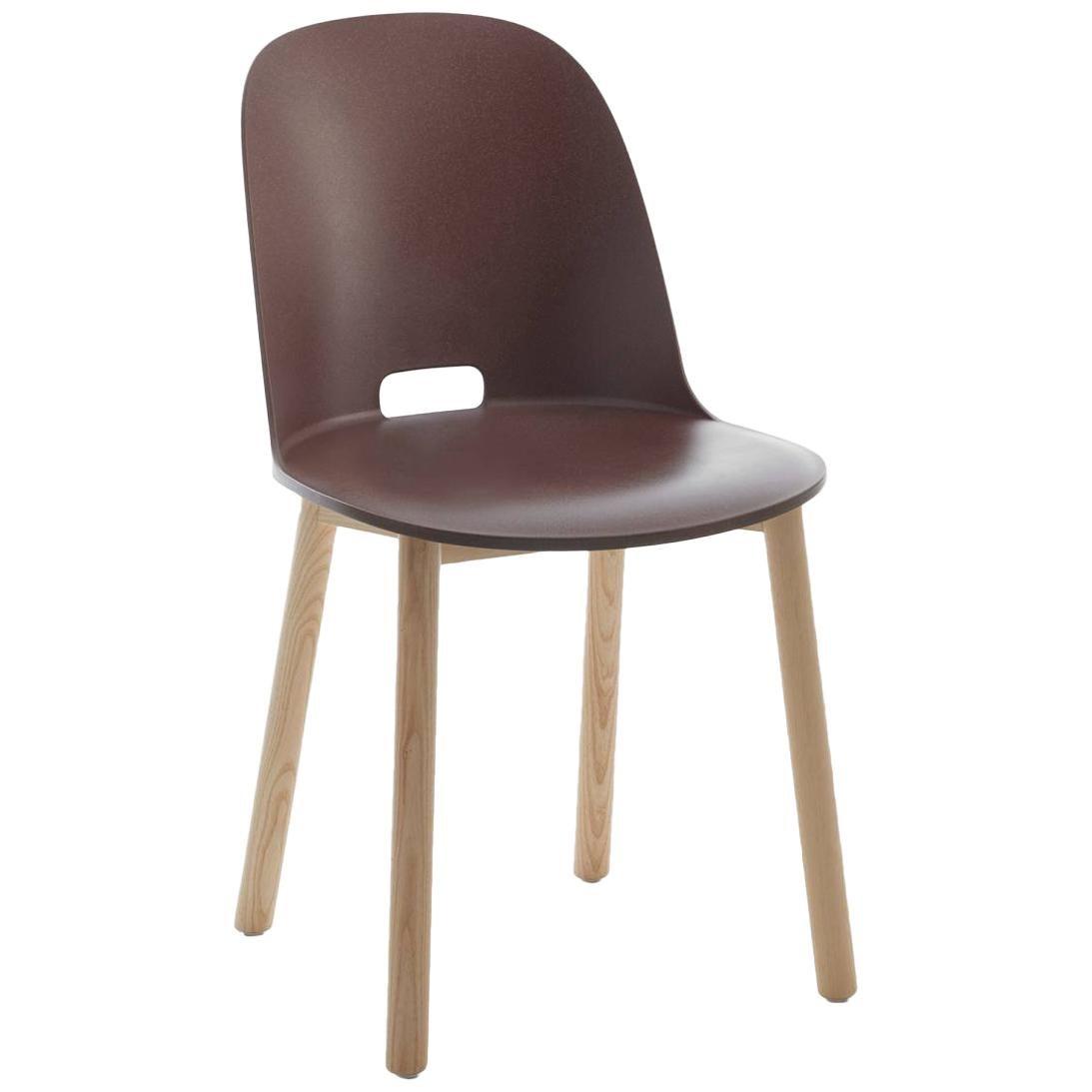 Emeco Alfi Chair in Brown & Ash w/ High Back by Jasper Morrison