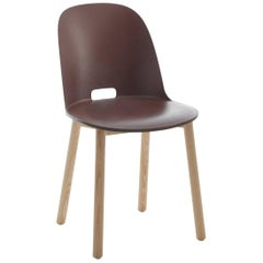 Emeco Alfi Chair in Brown & Ash w/ High Back by Jasper Morrison