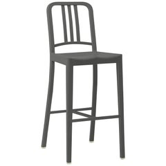 Emeco 111 Navy Barstool in Charcoal by Coca-Cola