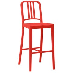 Emeco 111 Navy Barstool in Red by Coca-Cola