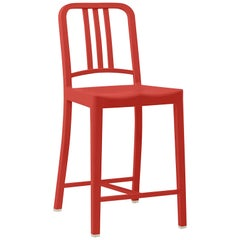 Emeco 111 Navy Counter Stool in Red by Coca-Cola