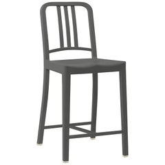 Emeco 111 Navy Counter Stool in Charcoal by Coca-Cola