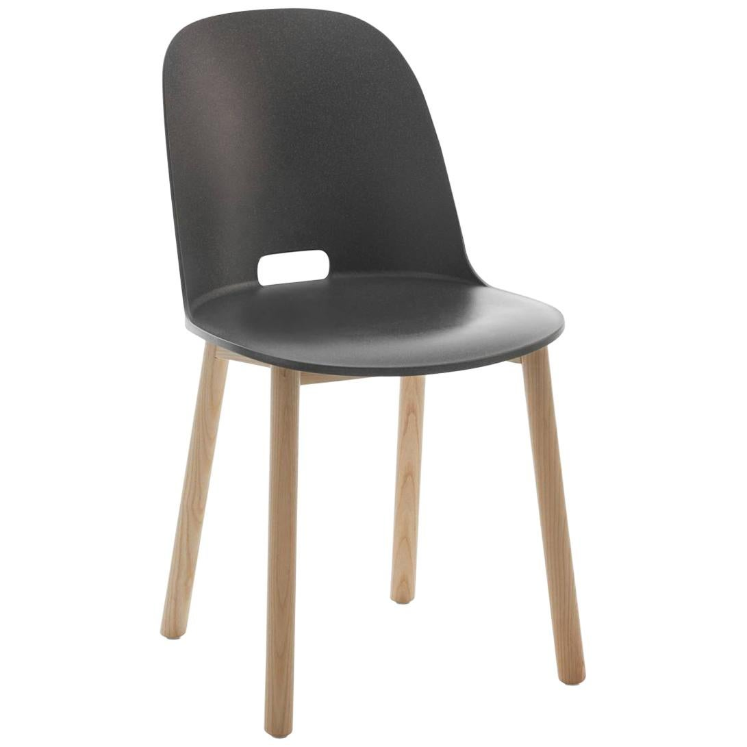 Emeco Alfi Chair in Gray and Ash with High Back by Jasper Morrison
