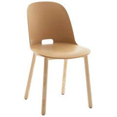 Emeco Alfi Chair in Sand and Ash with High Back by Jasper Morrison