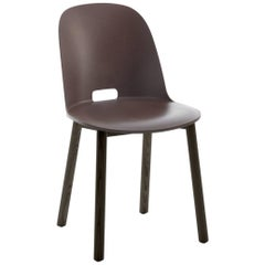 Emeco Alfi Chair in Brown and Dark Ash with High Back by Jasper Morrison