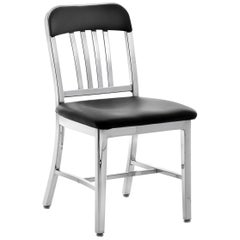 Emeco Navy® Chair in Polished Aluminum w/ Bar Back by US Navy