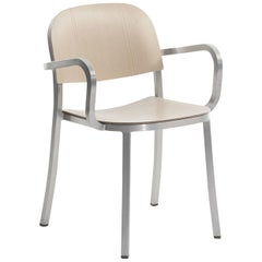 Emeco Armchair in Brushed Aluminum & Ash by Jasper Morrison