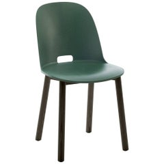 Emeco Alfi Chair in Green and Dark Ash with High Back by Jasper Morrison