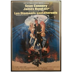 Autentic Movie Poster James Bond 007 Diamonds Are Forever in French