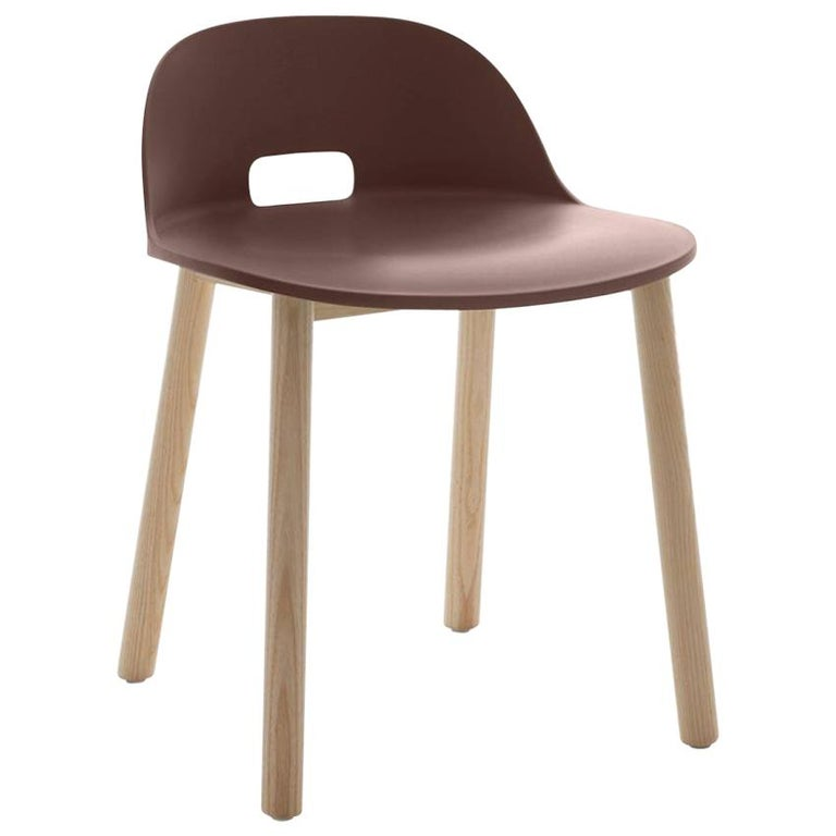 Emeco Alfi Chair in Brown and Dark Ash with Low Back by Jasper Morrison For Sale