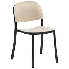Emeco 1 Inch Stacking Chair in Dark Aluminum and Ash by Jasper Morrison