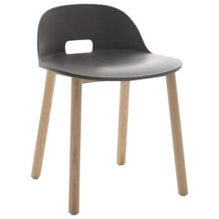 Emeco Alfi Chair in Gray & Ash w/ Low Back by Jasper Morrison