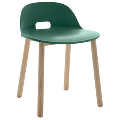Emeco Alfi Chair in Green and Ash with Low Back by Jasper Morrison